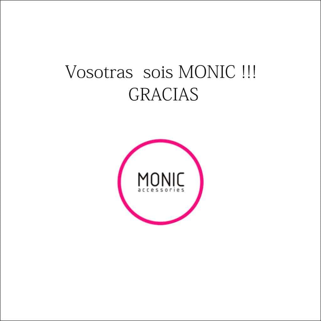 Vosotras sois Monic: Logo Monic con agradecimientos a todas nuestras clientas y amigas