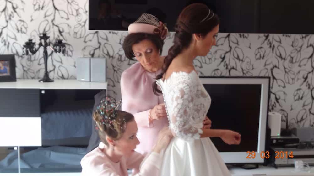 Tocados de boda Monic : novia, madrina e invitada