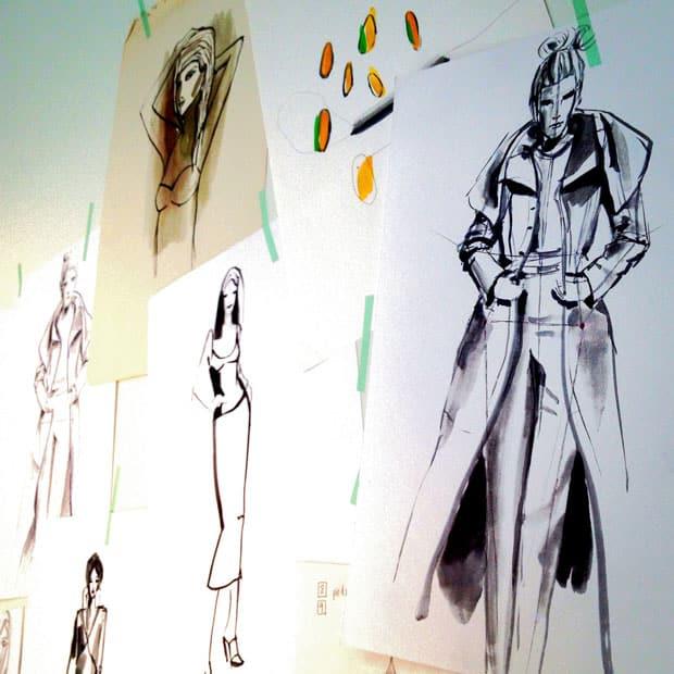 Vestidos Monic : Bocetos en el taller