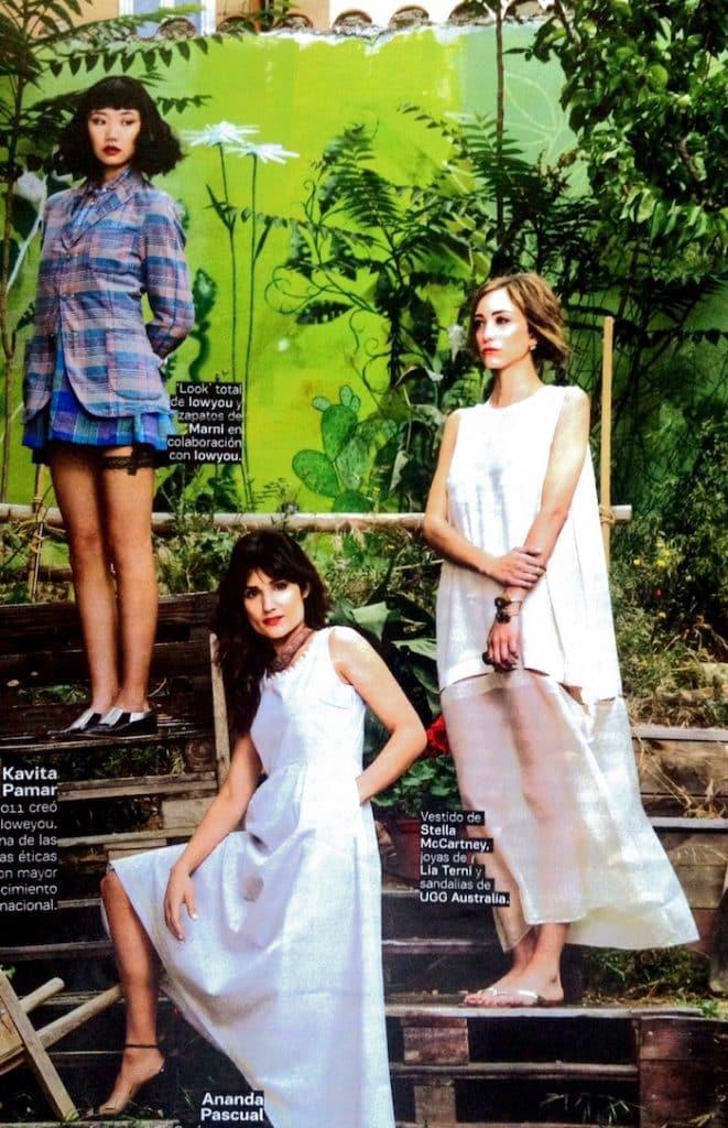 Lia Terni joyería en oro Ecológico sobre look de Stella McCarney (imagen de El País)