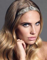 tocado tiara de novia plata para pelo suelto