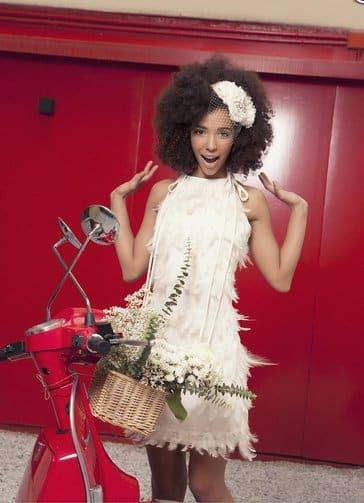 Tocado Monic Bouquet de novia. Fotografía y estilísmo AnmarGo
