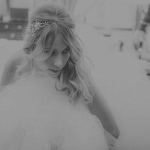 tocado de cristal para novia