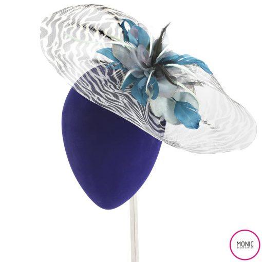Tocado Invitada Fiesta Crin Print Animal- Monic bodas día plumas flores
