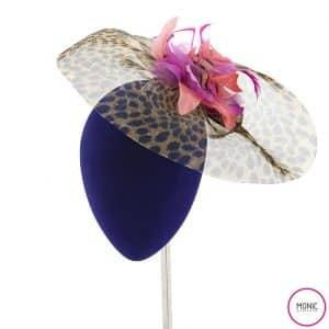 Tocado Invitada Fiesta Crin Print Animal- Monic plumas y flores