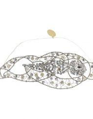 Tocado Joya Novia adorno pelo metal plateado cristal - Monic