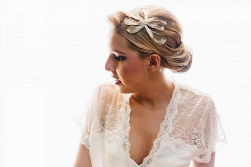 Novia - Tocado joya de novia - Monic - Colección Chantilly