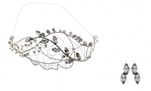 Pendientes de Novia plata cristal swarovski