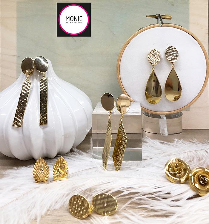 pendientes dorados de boda