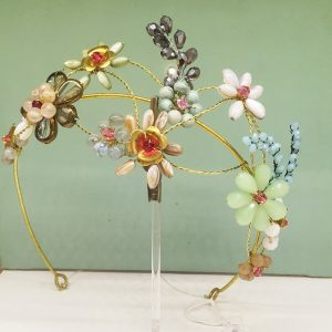Tocado joya Diadema de flores para novia e invitadas de boda dia tarde noche