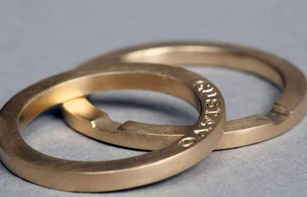 alianzas de boda oro ecológico en Madrid