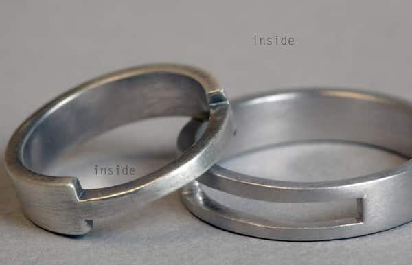anillos boda Lia Terni entrelazados en Madrid