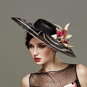 sombrero tocado para una boda