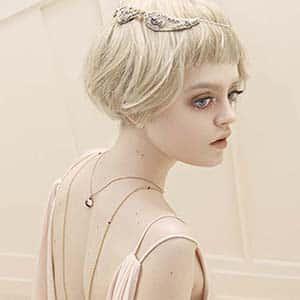 tiara de novia plata de pedreria