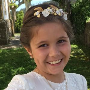Tocados de comunión para niña en Madrid