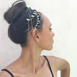 diadema joya pedrería online para pelo