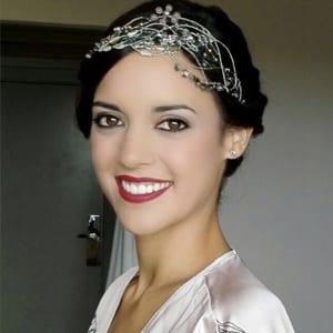 tiara para novia vintage con cristal Swarovski