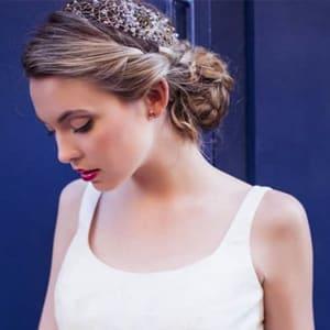 tiara de cristal swarovski para novia
