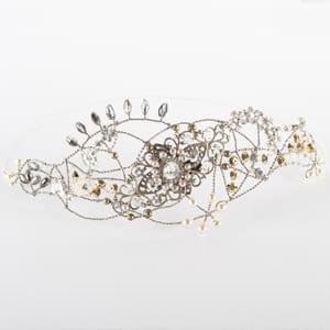 tiaras de novia con cristal y perlas