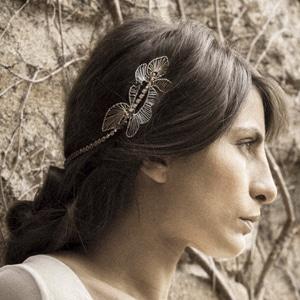 tiara olivia de novia con peinado de novia