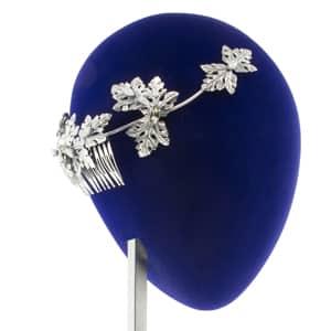 tiara plata de metal para novias