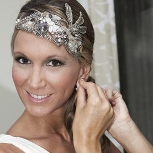 tiara vintage de pedrería para novia de boda