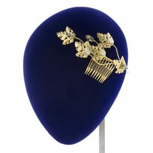 tiaras novia hojas doradas metal