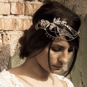 tiara vintage de novia en plata