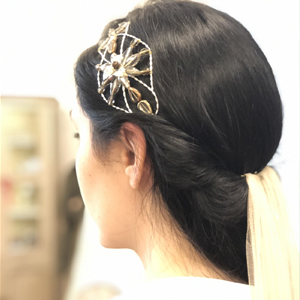 tocado diadema para novia con velo largo de tul de seda