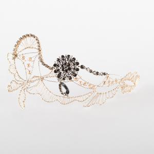 tocado de joyería con cristal Swarovski para novia