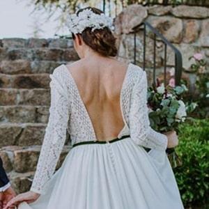 tocados novia madrid con flores blancas preservadas, naturales y liofilizadas