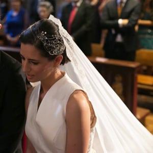 tocados de novia para velo largo de encaje