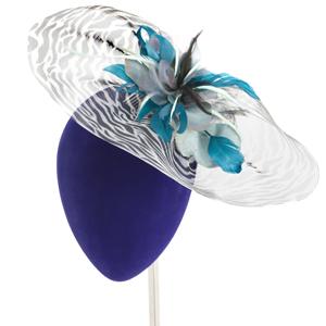 tocado plumas faisán online para invitadas de boda