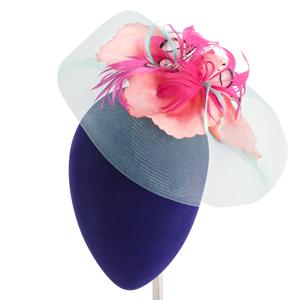 tocados con flores y plumas para el cabello madrid
