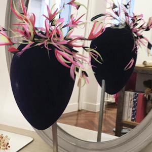 tocados diademas de plumas para el pelo originales