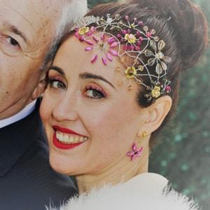 tocados joya cristal pelo boda