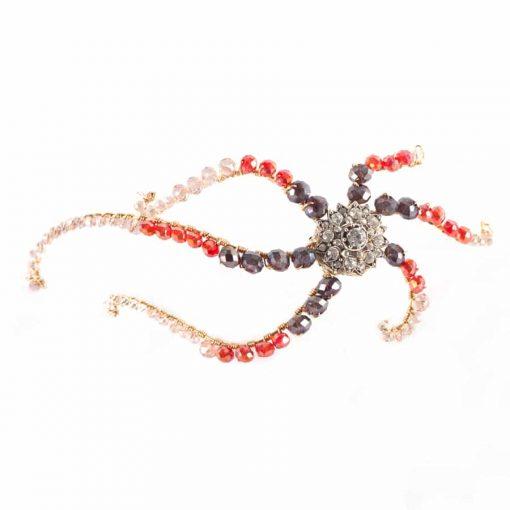 adornos pelo invitadas fiesta peinados boda tocados joya cristal octopus pelo
