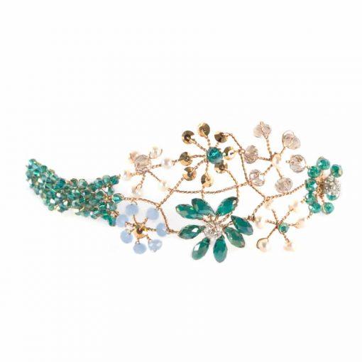 comprar tocados joya invitada pelo boda diadema metal cristal