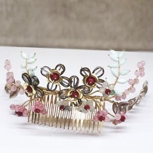 tocados joya adornos pelo pedrería flores cristal