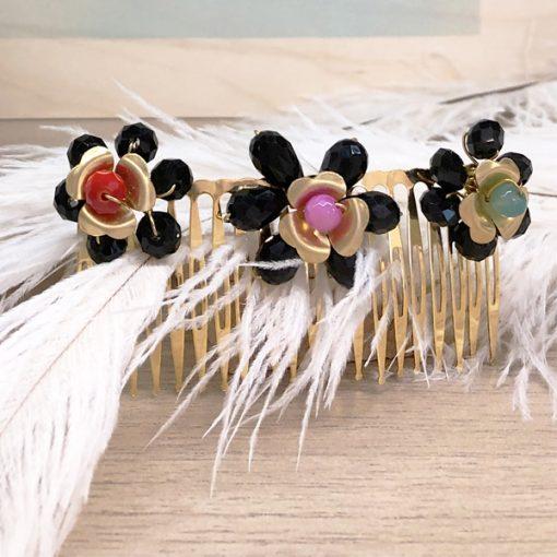 peinetas de boda con flores para adornos de pelo