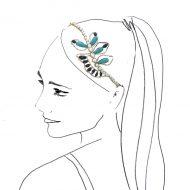 diadema perlas adornos pelo invitadas boda fiesta peinados