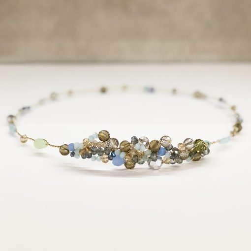 tocado diadema corona piedras cristal adorno pelo invitadas boda fiesta noche