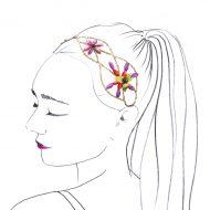 diadema turbante flor cruzada
