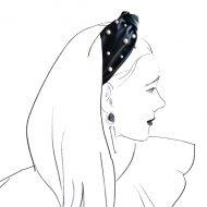 diadema nudo turbante perlas napa negra invitadas boda