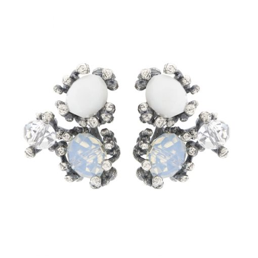 pendientes de novia en plata y cristal swarovski cortos originales diferentes elegantes online