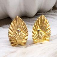 pendientes dorados de boda estilo decó cierre omega