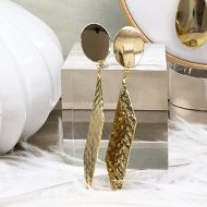 pendientes geométricos largos dorados invitada boda