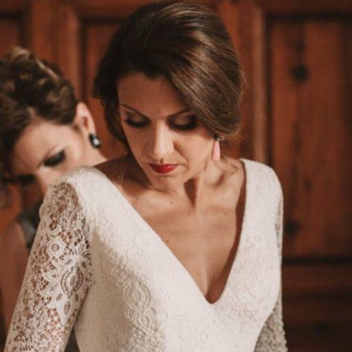 pendientes boda colgantes largos con gota cristal