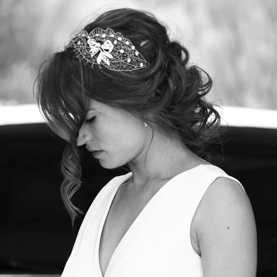recogidos de boda con tocados de novia
