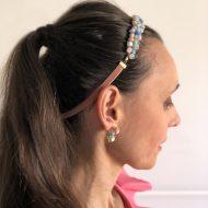 diadema mujer accesorios pelo invitadas boda fiesta noche con pendientes